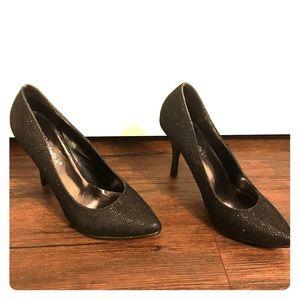 Breckelle's black sparkly heels